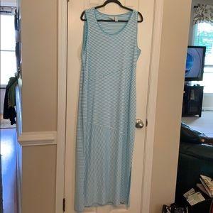 Chico's Long sleeveless striped dress size 2(12)